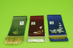 St stuha smuteční látková 9cm barevná - velkoobchod, dovoz květin, řezané květiny Brno