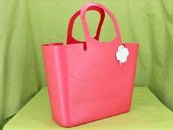 Plast taška Lucy 48cm indická růžová - velkoobchod, dovoz květin, řezané květiny Brno