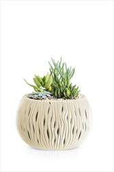 Květináč s vkladem Sandy Bowl 14,4cm krémový - velkoobchod, dovoz květin, řezané květiny Brno