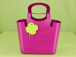 Plast taška Lucy 30cm fuchsia - velkoobchod, dovoz květin, řezané květiny Brno