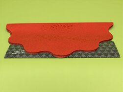 Rondo celofán pr.40cm tisk červená - velkoobchod, dovoz květin, řezané květiny Brno
