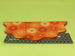 Rondo celofán pr.40cm tisk oranžová - velkoobchod, dovoz květin, řezané květiny Brno