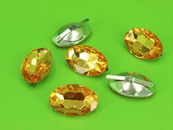 Do diamant ovál 30x20mm/6ks zlatý - velkoobchod, dovoz květin, řezané květiny Brno