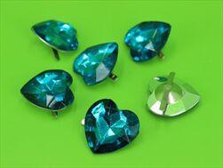 Do diamant srdce 30x20mm/6ks tyrkysový - velkoobchod, dovoz květin, řezané květiny Brno