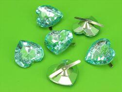 Do diamant srdce 30x20mm/6ks tiffany - velkoobchod, dovoz květin, řezané květiny Brno