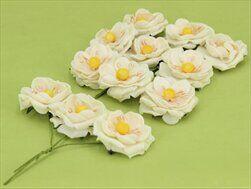 Květinka pěna aranž 3cm 12ks krém - velkoobchod, dovoz květin, řezané květiny Brno