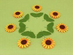 Slunečnice zápich 8ks 12x3,2cm - velkoobchod, dovoz květin, řezané květiny Brno