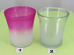 Obal sklo pr.13,5x15,5 mix bílá/fialová - velkoobchod, dovoz květin, řezané květiny Brno