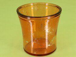 Obal sklo pr.12/V11,5 oranž zlatá - velkoobchod, dovoz květin, řezané květiny Brno