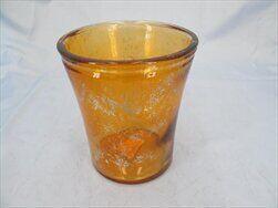 Obal sklo pr.14/V15,8cm oranž zlatá - velkoobchod, dovoz květin, řezané květiny Brno