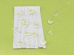 Srdce girlanda pvc 120cm bílá - velkoobchod, dovoz květin, řezané květiny Brno