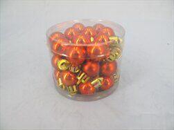 Koule vánoční plast 36ks/2cm oranž - velkoobchod, dovoz květin, řezané květiny Brno