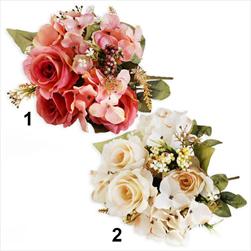 Růže/hortenzie kytice 40cm mix - velkoobchod, dovoz květin, řezané květiny Brno