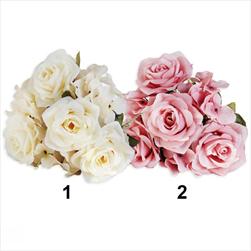 Růže/hortenzie kytice 35cm mix - velkoobchod, dovoz květin, řezané květiny Brno