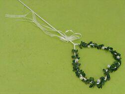 Srdce zápich kov 12x60cm bílá/zelená - velkoobchod, dovoz květin, řezané květiny Brno