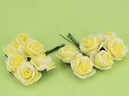 Růže pěna S/12 bílo/žlutá - velkoobchod, dovoz květin, řezané květiny Brno