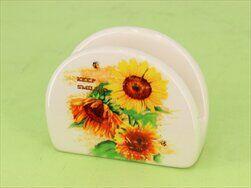 Držák na ubrousky slunečnice keramika - velkoobchod, dovoz květin, řezané květiny Brno