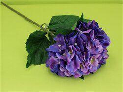 Hortenzie umělá V80cm fialová - velkoobchod, dovoz květin, řezané květiny Brno