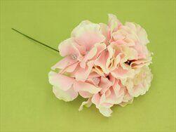 Hortenzie zápich umělá sv.růžová - velkoobchod, dovoz květin, řezané květiny Brno