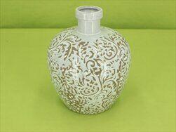 Váza keramika bílo/šedá - velkoobchod, dovoz květin, řezané květiny Brno