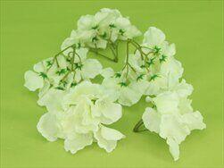 Hortenzie květ textil S/12 bílá - velkoobchod, dovoz květin, řezané květiny Brno