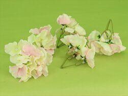Hortenzie květ textil S/12 růžová - velkoobchod, dovoz květin, řezané květiny Brno