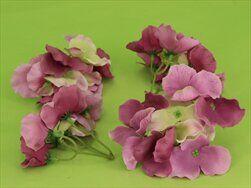 Hortenzie květ textil S/12 fialová - velkoobchod, dovoz květin, řezané květiny Brno