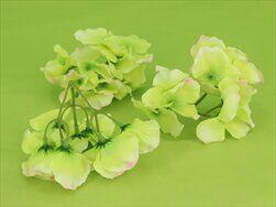 Hortenzie květ textil S/12 zelená-růžová - velkoobchod, dovoz květin, řezané květiny Brno