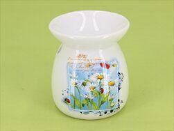 Aromalampa heřmánek keramika zelená - velkoobchod, dovoz květin, řezané květiny Brno