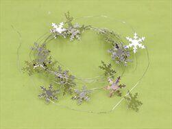 Vločka girlanda kov stříbrná - velkoobchod, dovoz květin, řezané květiny Brno