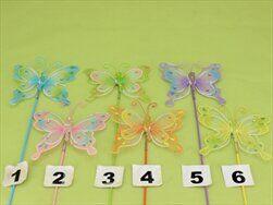 Motýl zápich nylon mix - velkoobchod, dovoz květin, řezané květiny Brno