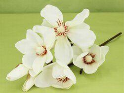 Magnolie umělá V45cm bílá - velkoobchod, dovoz květin, řezané květiny Brno