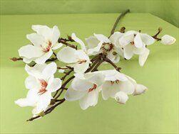 Magnolie umělá V113cm bílá - velkoobchod, dovoz květin, řezané květiny Brno