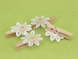 Květinka dřevo/krajka S/4 bílá - velkoobchod, dovoz květin, řezané květiny Brno
