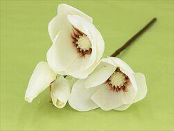 Magnolie umělá 32cm bílá - velkoobchod, dovoz květin, řezané květiny Brno