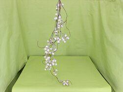Závěs bobule umělé 90cm bílá - velkoobchod, dovoz květin, řezané květiny Brno
