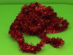 Řetěz vánoce 5cm/6m červená - velkoobchod, dovoz květin, řezané květiny Brno