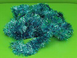 Řetěz vánoce 7cm/6m tyrkys - velkoobchod, dovoz květin, řezané květiny Brno