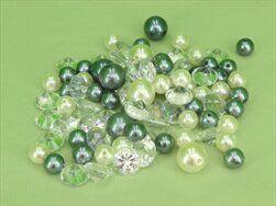 Dekoperličky/diamanty pvc/sklo 156g stříbrný mx - velkoobchod, dovoz květin, řezané květiny Brno