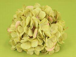 Hortenzie květ textil pr.18cm zelená - velkoobchod, dovoz květin, řezané květiny Brno