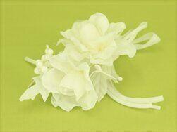 Růže přízdoba textill 20cm bílá - velkoobchod, dovoz květin, řezané květiny Brno
