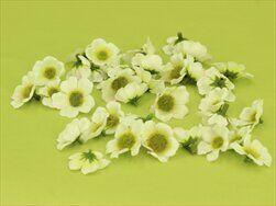 Mini čemeřice textil 40ks/3,5cm bílá - velkoobchod, dovoz květin, řezané květiny Brno