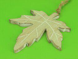 List závěs dřevo 15cm natural - velkoobchod, dovoz květin, řezané květiny Brno