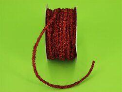 Stuha pružná textil 0,4cm/10m červená - velkoobchod, dovoz květin, řezané květiny Brno