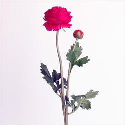 Ranunculus umělý x2/48cm červená - velkoobchod, dovoz květin, řezané květiny Brno