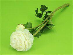Ranunculus umělý x2/48cm krémová - velkoobchod, dovoz květin, řezané květiny Brno