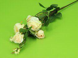 Růže umělá x7/73cm sv.růžová - velkoobchod, dovoz květin, řezané květiny Brno