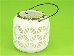 Lucerna keramika pr.12cm bílá - velkoobchod, dovoz květin, řezané květiny Brno