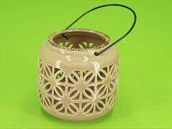 Lucerna keramika pr12cm latté - velkoobchod, dovoz květin, řezané květiny Brno