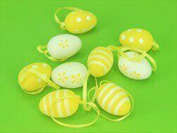Vajíčka pvc 9ks/4cm žlutá - velkoobchod, dovoz květin, řezané květiny Brno